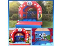 Bouncy Castle For Sale - Thomas Tank 12ft x 14ft with rain cover