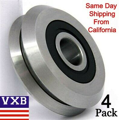 4-pieces Rm2-2rs 38inch Roller Ball Bearing V Groove Rubber Sealed Line Track