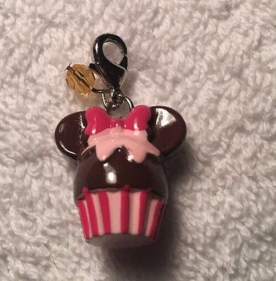 Disney Parks Charmed In The Park- Minnie Mouse Cupcake  Charm
