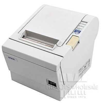 Epson Tm-t88iii Thermal Receipt Printer Micros Idn Interface Cool White
