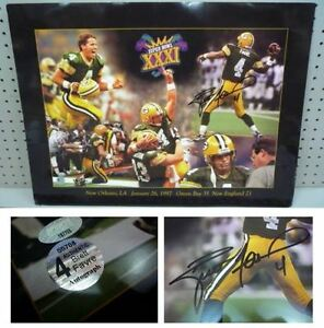SUPERBOWL XXXI BRETT FAVRE SIGNED 16x20 PRINT GREEN BAY PACKERS