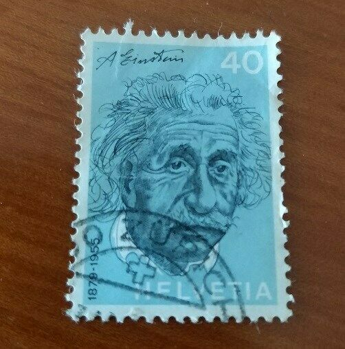 A Beautiful USA Postage Stamp of 40 Cents features Albert Einstein of Helvetia County - FINE Stamp
