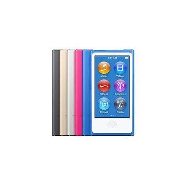 APPLE IPOD NANO 7a generazione azzurro + cover TPU nera nuovo, ma senza scatola