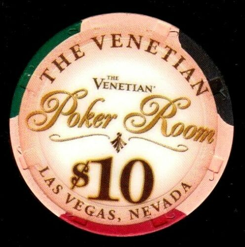 $10 Las Vegas The Venetian Poker Room Casino Chip