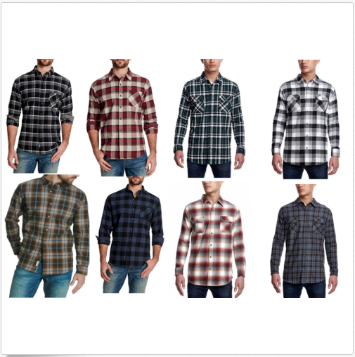 Weatherproof Men's Vintage Flannel Long Sleeve Button Down S