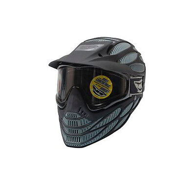 New JT Spectra Flex 8 Full Coverage Thermal Paintball Goggles Mask Black / Gray
