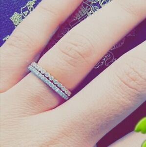 Size 6.5 diamond stacking band rings