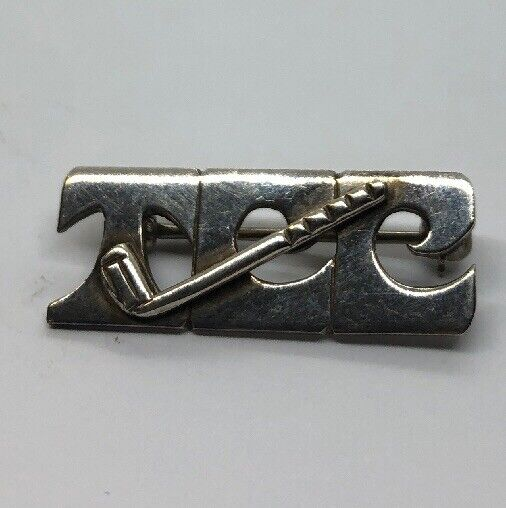 Vintage Sterling Silver Brooch Pin 925 Lenore Doskow Signed Golf TCC