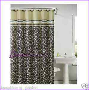 Victoria Classics Bath Shower Curtain Animal Print 72 X 72 Khadi Brown Gold New Ebay