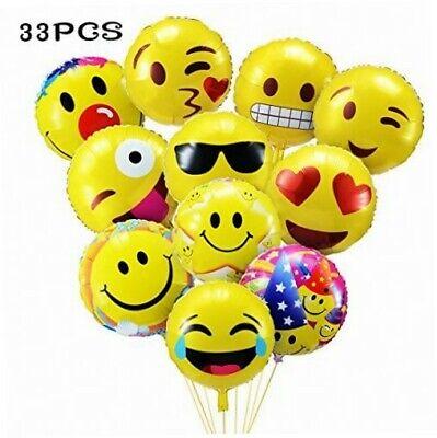 y Luftballons 45CM Folie Helium Gesichtsausdruck Balloons... (Emoji-party)
