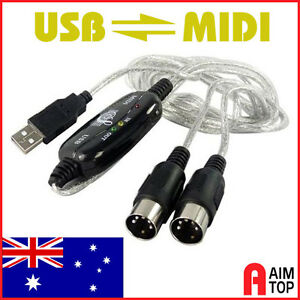 USB to MIDI Interface Cable for PC and MAC - 16 Channels MIDI In & MIDI Out