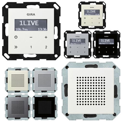 GIRA Unterputz Radio RDS oder Lautsprecher verschiedene Farben - zur Auswahl