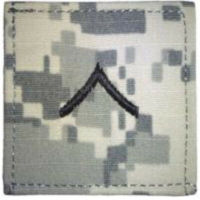 "2"" x 2"" ACU US Army E-2 E2 PVT Private Rank Insignia Hook Fastener Patch"