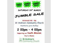JUMBLE SALE 24TH MARCH AT ST.ANDREWS CHURCH BATH 2-4PM