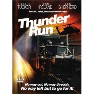 THUNDER RUN - DVD - Trucker Adventure - John Ireland - Forrest Tucker