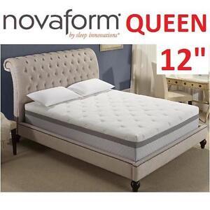 """NEW NOVAFORM 12"""" MF MATTRESS QUEEN - 117701811 - VALENTINA MEMORY FOAM BED"""