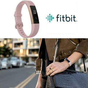 OB FITBIT ALTA HR FITNESS BAND LG FB408RGPKL 226839512 ROSE GOLD SERIES LARGE PINK HEART RATE FITNESS TRACKER OPEN BOX