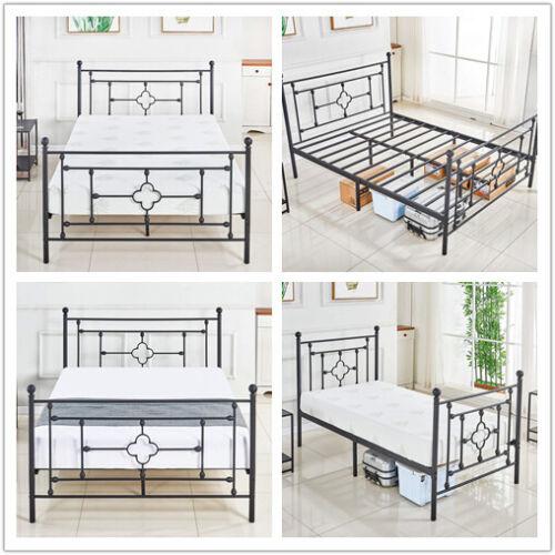 Bed Frame/Metal Platform Mattress Foundation No Box Spring N