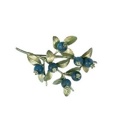 Blueberry Brooch Pin by Michael Michaud for Silver Seasons #5666BZBC