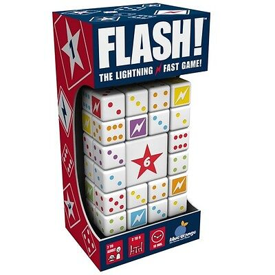 Blue Orange Flash The Lightning Fast The Dashing Dice Game For Ages 7  Kids New