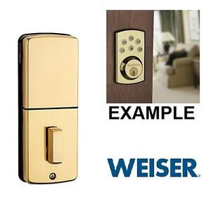 NEW WEISER POWERBOLT 2.0 BRASS - 114789002 - Home - Windows  Doors -Door Locks  Handles   Entry (Electronic Keyless)