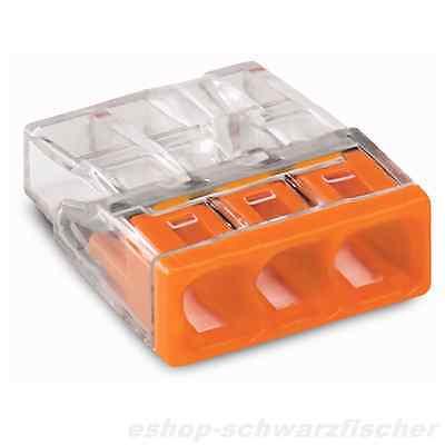 Wago Verbindungsklemme orange 3x0,5-2,5mm², 2273-203, 100 Stück