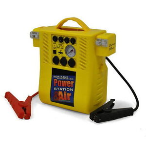 PORTABLE COMPRESSOR POWER PACK JUMP STARTER + INVERTER