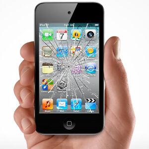 Apple iPod Touch 4th Generation Broken screen Glass LCD Digitizer Repair Service