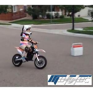 NEW MOTOTEC 24V ELECTRIC DIRT BIKE - 123367344 - ORANGE MOTOCROSS BIKES RIDE ON TOY RIDE-ONS MOTORIZED BATTERY POWERE...
