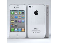 Iphone 4S White and factory unlocked to any network