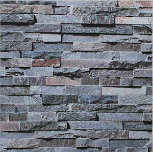 3d brick stone natural colour slate outdoor rustic look