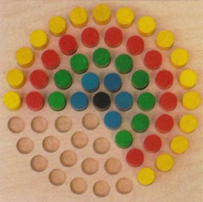 Holzspielzeug # Egermann 2195 Steckspiel großer Stern mit 45 bunten Steckern Holz 24 cm NEU