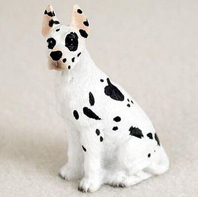 GREAT DANE (Harlequin cropped) TINY ONES DOG Figurine Statue Pet Lovers Resin