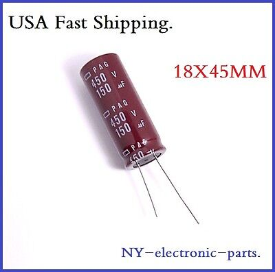 150uf 450v Ncc Radial Electrolytic Capacitors.1piece