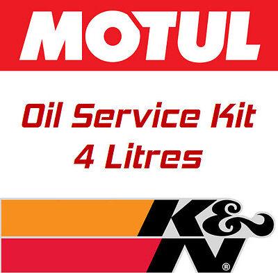 OIL SERVICE KIT FOR TRIUMPH DAYTONA 955I CE 01 06 MOTUL 5000 10W40 KN