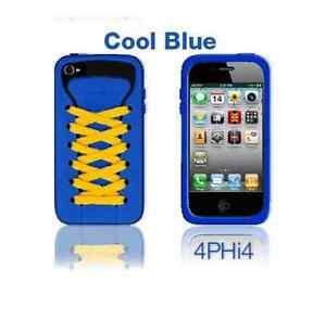 Jugar-Hello-Azul-Ishoes-Deportivo-Funda-De-Silicona-para-iPhone-4
