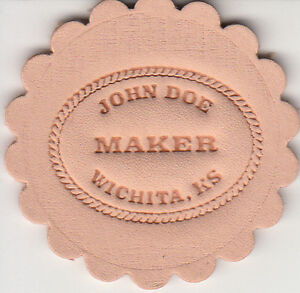 Custom Makers Stamp for leather embossing / clicker and hammer delrin stamp