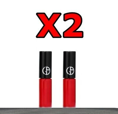 2 Pack Armani Lip Maestro Liquid Matte Lipstick 400 Red 2 x Travel Size /MINI