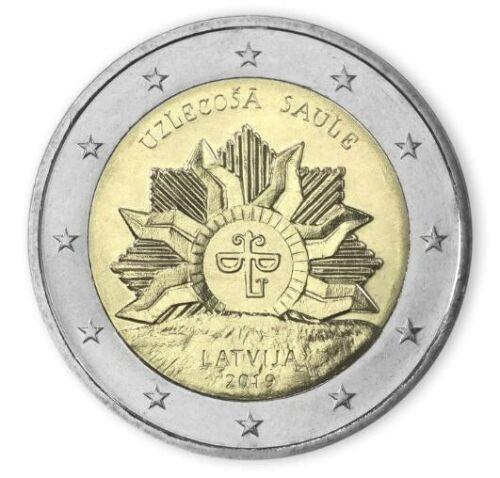 """Latvia 2 euro coin 2019 """"The Rising Sun"""" UNC"""