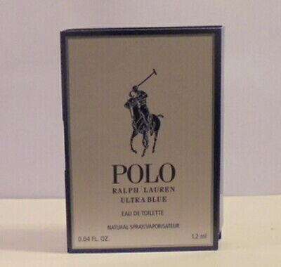 Ralph Lauren Polo Ultra Blus Cologne Perfume Spray Test Sample Bottle Vial ml oz
