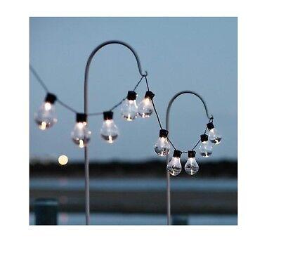 CATENA LUMINOSA A LED 20 LAMPADINE LUCE FREDDA FILAMENTO 10 METRI IP44 FESTA