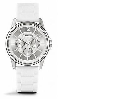 NIB COACH CLASSIC SIGNATURE SPORT RUBBER STRAP WATCH - W1204 White or Black
