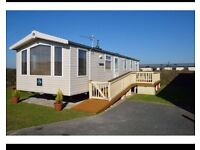 Static caravan for sale sited at Perran sands Perranporth