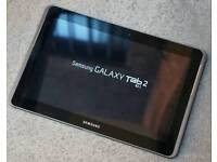 Samsung tab 2, 10.1, 16gb, great condition comes with charger, box and a flip case