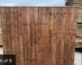 Pressure treated vertical board fence panels heavy duty
