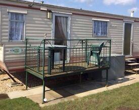 Caravan, 6 berth, Chaple St Leonards, Palm Resort August £330 for (7 nights)19th Aug-26th Aug