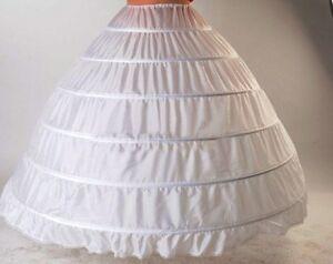 brand new white 3 and 6 Hoop Petticoat
