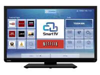 "32"" HIGH DEFINITION SMART LED SLIM TOSHIBA TV WITH WI-FI BUILT-IN"