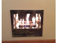 Gas inset wall fire (Verne model 420 matrix flame NG)