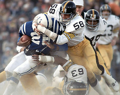 JACK LAMBERT & ERNIE HOLMES 8X10 PHOTO PITTSBURGH STEELERS PICTURE NFL FOOTBALL ()